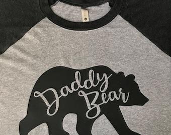 9c36cddc21 Daddy Bear Raglan Baseball T-Shirt