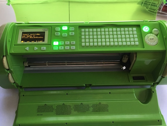 Cricut Expression, Green Floral Edition, with 4 Cartridge Bundle, power  cord and CD included