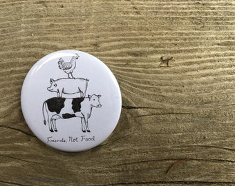 Friends Not Food Pin