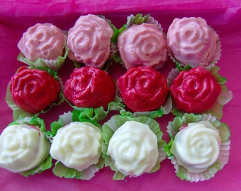 Rose Truffles-Raspberry Rose Infused with Vanilla Coating-Perfect  ForAnother's Day/Showers/WedEarringsj/Parties s zuf Tiki/Candy Buffets-12