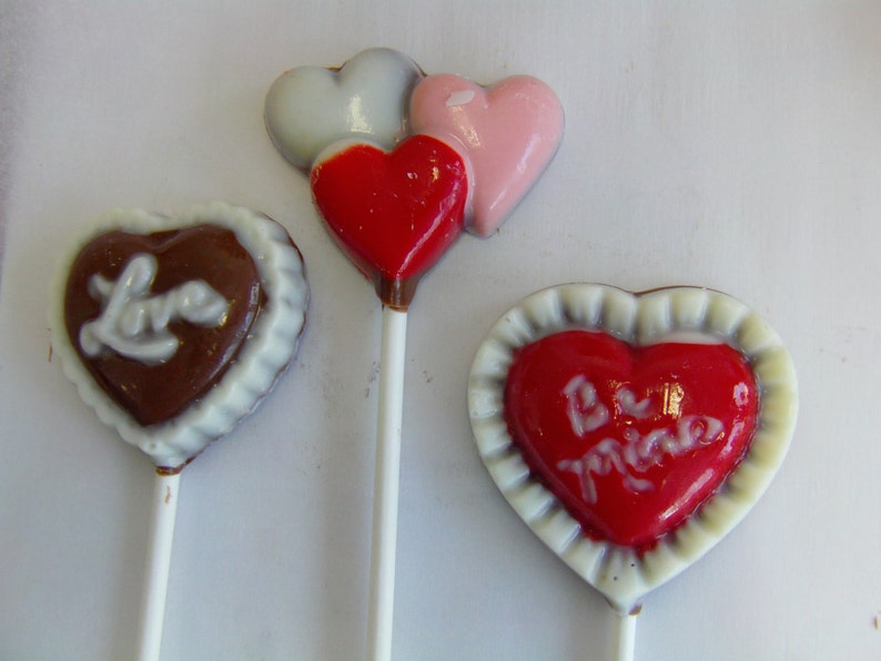 Valentine Theme Lollipops 12 Love Party Favors Gift Engagement