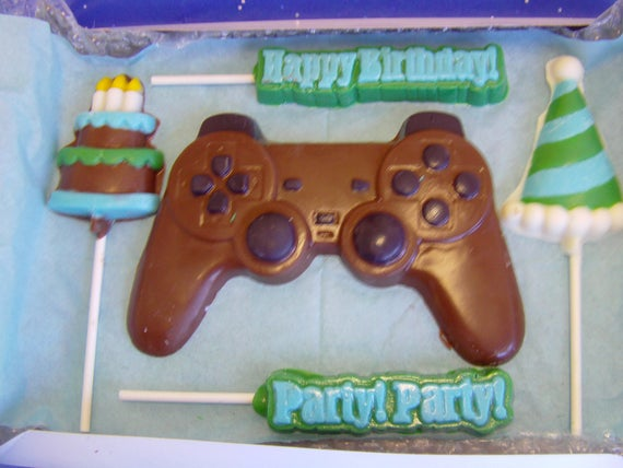 Outstanding Gamer Birthday Gift Box Chocolate Game Controller Birthday Cake Funny Birthday Cards Online Alyptdamsfinfo