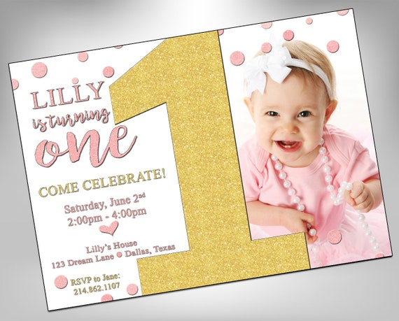 First birthday baby girl invite first birthday invite etsy image 0 filmwisefo