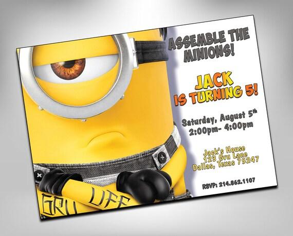 Despicable Me 3 Invitations Movie