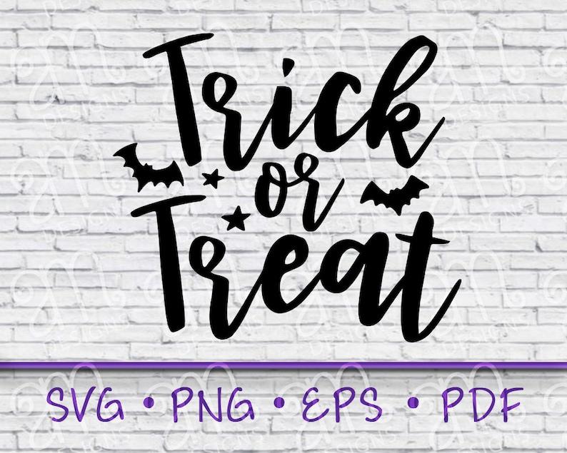 Trick or treat svg treat svg Trick or Treat halloween svg halloween bag svg halloween sign trick svg svg for halloween bag