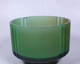 Bohemian/czech Able Czechoslovakia Green Glass Fruit Bowl And Dishes Crazy Price Pottery & Glass