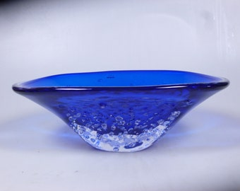 Czech art glass bowl