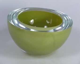 Czech art glass bowl Valner