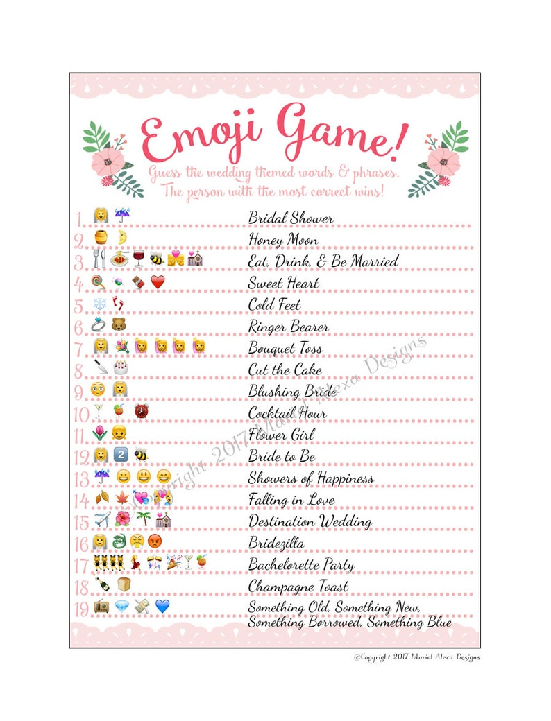14 Printable Bridal Shower Games Guests Love