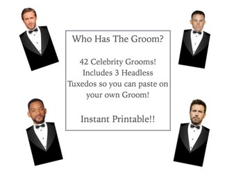 Who Has the Groom Game - Instant Printable - Download - PDF - Fun Unique Games Bridal Shower DIY PDF Wedding
