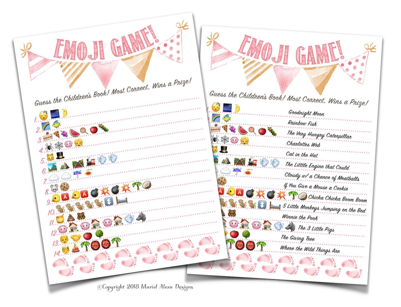 Baby Shower Emoji Game Nursery Children's Book Emoji | Etsy