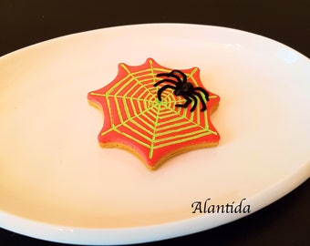 Fake Cupcake Halloween Black Spider  Cupcake Display Decor Halloween Decor Faux Cupcakes Trick  or Treat Spider Web Cookie