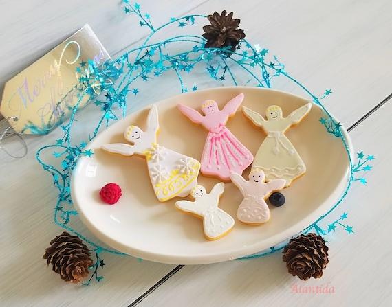 Fake Christmas Angel Cookie Christmas Ornament Fake Cookie Display Fake Cookies Christmas Tree Decoration Angel Cookies Christmas Gift Idea