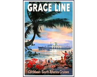 SAVANNAH North German Lloyd Poster BREMEN EUROPA Ocean Liner Ship Travel Art 093