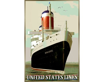 TRAVEL UNION LINE SHIP SAIL SEA PLANE NEW ZEALAND VINTAGE POSTER PRINT 1060PY
