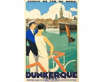 Dunkerque Chemin de Fer du Nord Poster Retro Restored Roger Broders Art Print 299