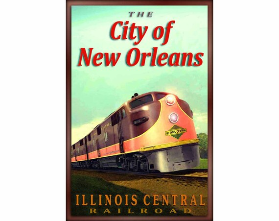 Illinois Central PANAMA LIMITED Chicago New Orleans Railroad Poster Art Print 25