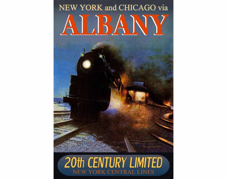 La Salle New York Central Railroad 20th CENTURY Ltd Train Poster Art Print 221