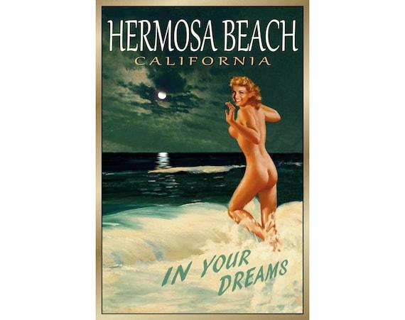 Hermosa Beach California Original New Poster Marilyn Monroe Pin Up Art Print 171