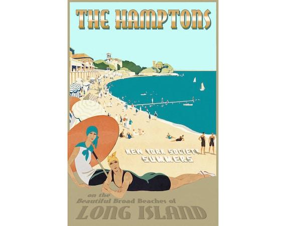 Long Beach New York Long Island Travel Poster South Shore Pin Up Art Print 272