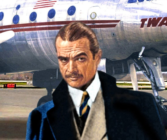TWA Howard Hughes Poster Plane Art Constellation Trans World Airlines Print 285