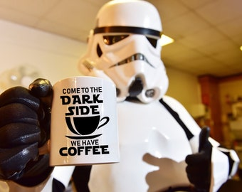 Starwars Funny Mugs Gifts Come to the DarkSide, We have Coffee Tea Coffee Cup  Funny Quotes 11 or 14-Ounce Star Wars Mug