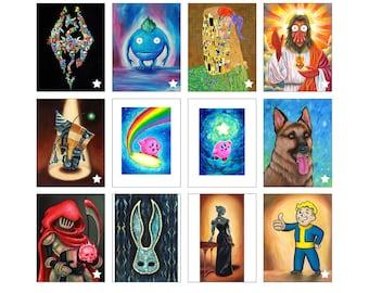 Custom Size Art Prints of Original Acrylic Paintings - Katie Clark Art