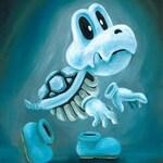 Dry Bones Art Print - Skeleton Art Print - Nintendo Fan Art - Koopa Fan Art - Nintendo Art - Video Game Art - Nintendo Painting