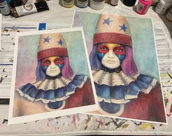 Psycho Clown - Art Print