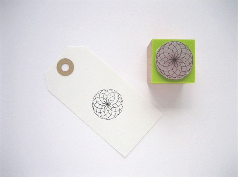906b64e8b TORUS Rubber stamp. Sacred Geometry Rubber Stamp. Tube Torus | Etsy