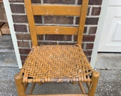 Very Old Quaint Woven Ladder-back Chair Perfect to Hang on Wall