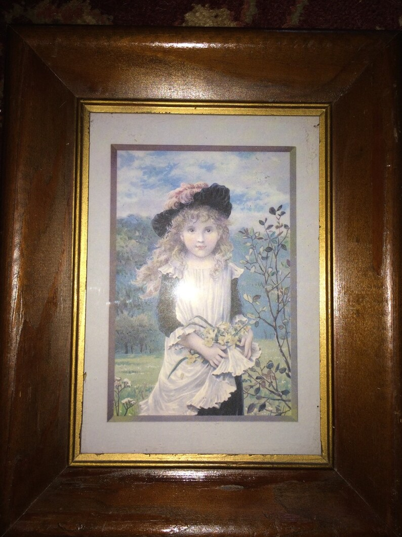 Pink Young Lady 5 x 7 Framed