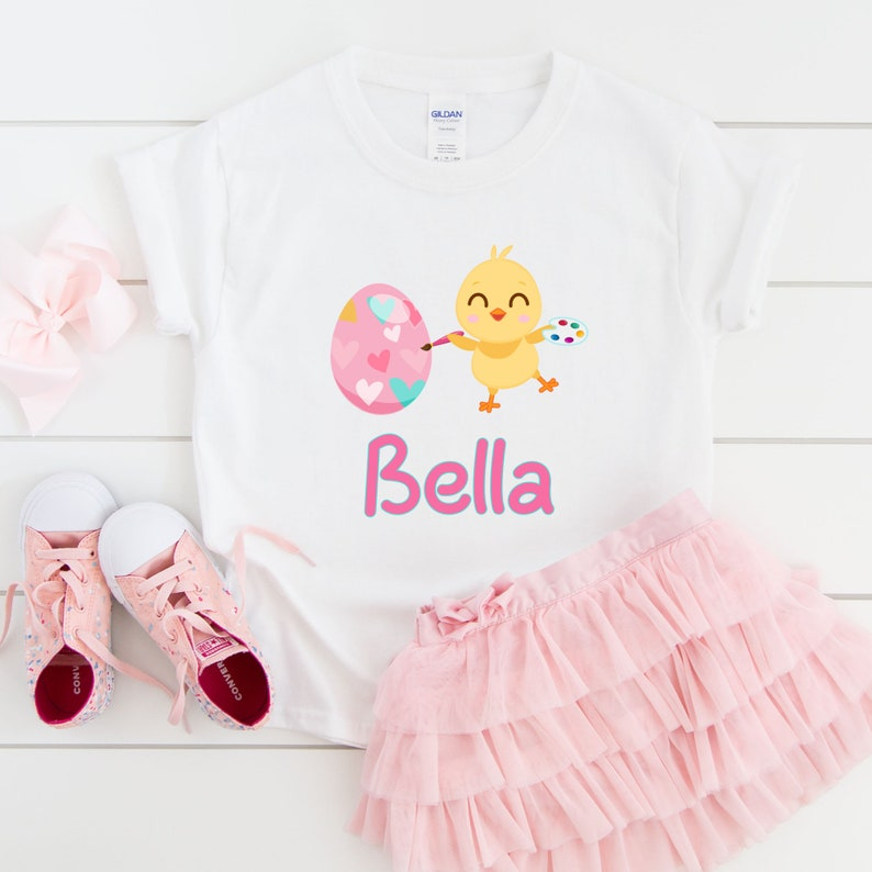 Easter Personalized Personalized Girls tshirt for Easter Toddler/'s Easter tshirt with name Easter Baby onesie with name