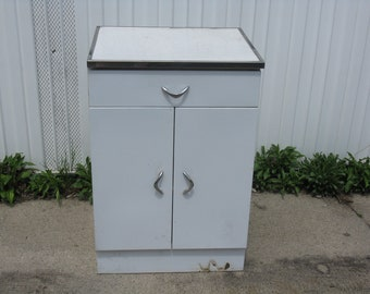 Vintage Metal Cabinet With Formica Top Kitchen Garage Storage