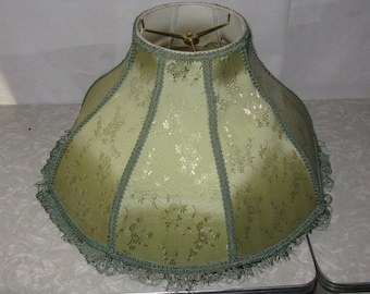 ead7f472884 Vintage antique green lamp shade