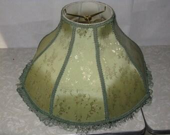 Vintage antique green lamp shade