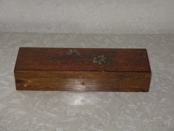 Vintage wooden box made in Germany glove box?