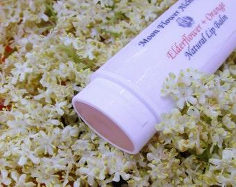 ELDERFLOWER ORANGE Natural Lip Balm, Organic Lip Balm, Organic Lip Butter, Natural Lip Butter, Lip Balm, Lip Butter