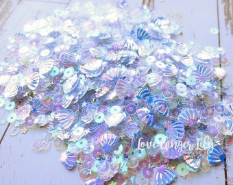 Paper Crafting Sequin Sparkle Mix - Seashell