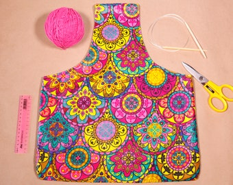 Large Knitting Project Tote - Knitting Organizer - Knitting Commuter Bag - Yarn Holder Bag Large