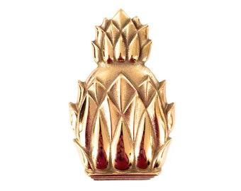 Vintage Brass Pineapple Door Knocker   Mid Century Pineapple Door Knocker    Virginia Metalcrafters Brass Pineapple