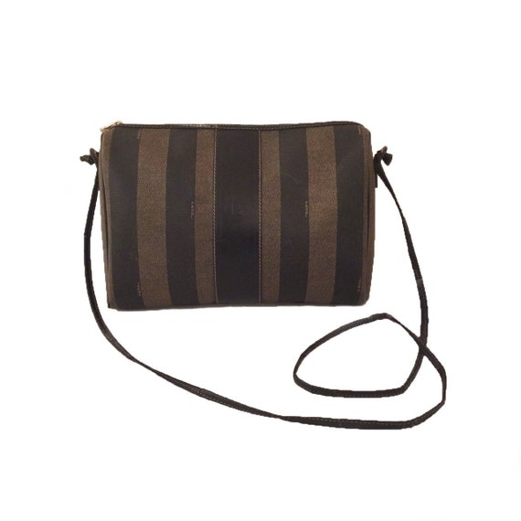 Vintage Authentic Fendi Pequin Crossbody Bag - Vin