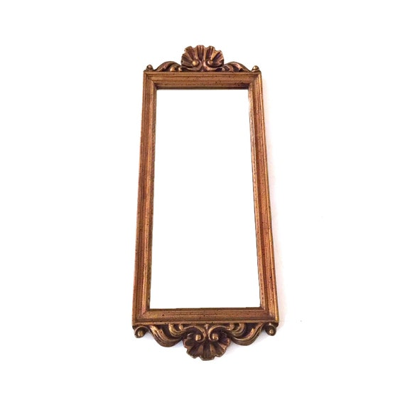 Vintage Rectangular Gold Frame Mirror Gold Mirror Gold   Etsy