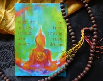 "Postcard BuddhaART ""The Mind..."""