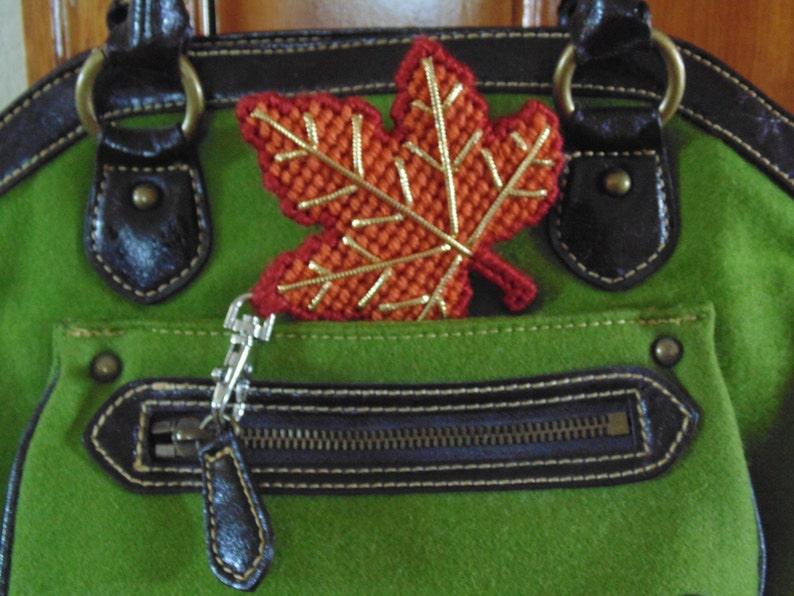 Autumn Maple Leaf Bag Clip Maple Leaf Clip Charm Leaf Zipper image 0