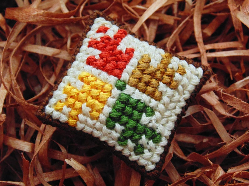 Autumn Leaves Miniature Pillow Autumn Mini Cushion Pin image 0