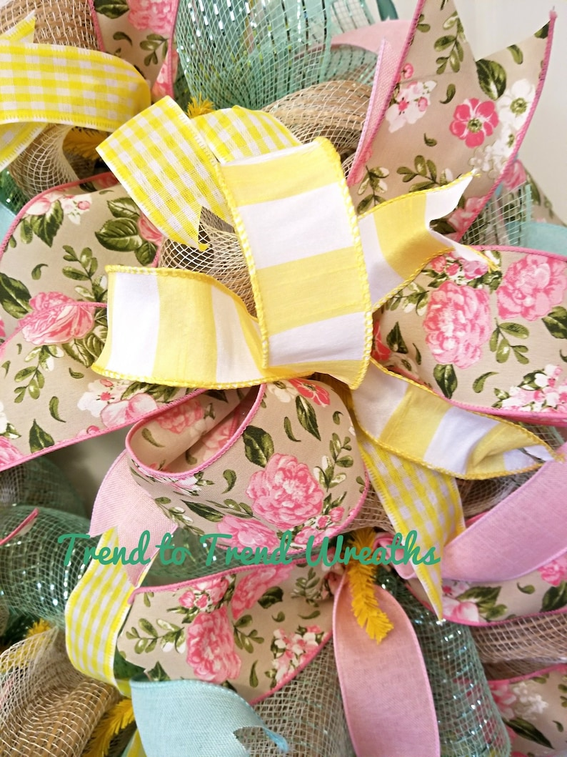 Easter Wreath Bows Easter,Easter Wreath Mesh,Front Door Decor,Easter Decor,Blessed,Blessed Wreath,Best Easter Wreath Easter Wreath Spring