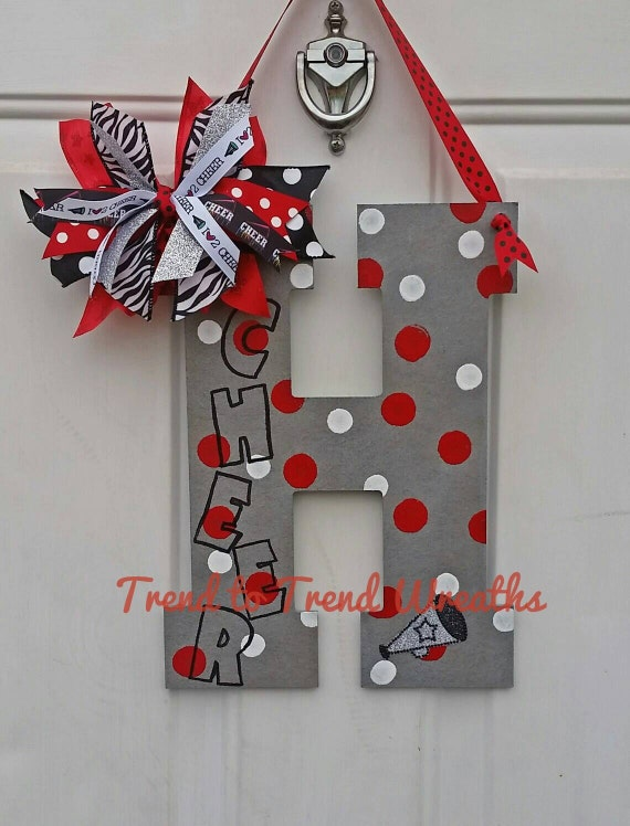 Cheer letter cheerleading wall decor cheer gift cheer etsy image 0 altavistaventures Gallery