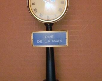 vintage jaeqer-lecoultre rue de la paix swiss made 8 day lamp post clock