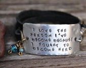 I love the person that I 39 ve become triple wrap bracelet